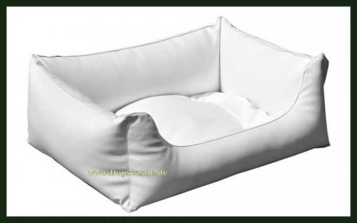 hundebett kunstleder weiss dogscastle. Black Bedroom Furniture Sets. Home Design Ideas
